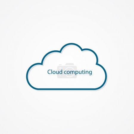 Illustration pour Le cloud computing - image libre de droit