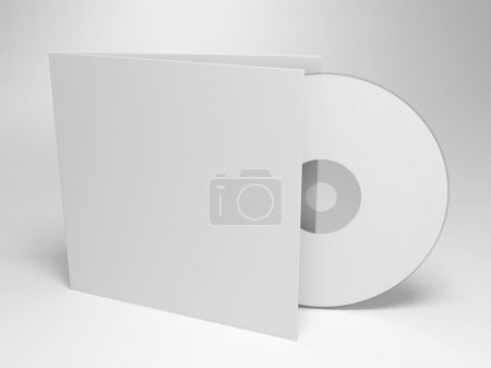 Photo for 3d render of blank Compact disk with cover - Royalty Free Image