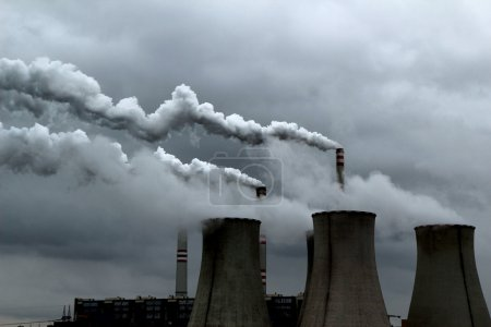 high pollution from coal power plant