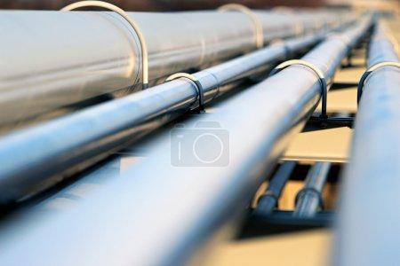 steel pipe in oil refinery