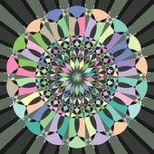 Kruhové dekorativní geometrickým vzorem - vektorové ilustrace
