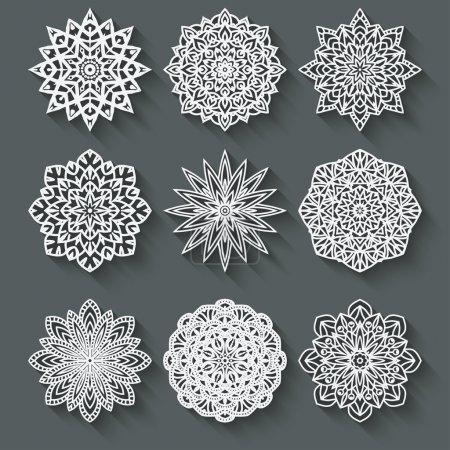 Illustration pour Set de motifs circulaires - illustration vectorielle. eps 10 - image libre de droit