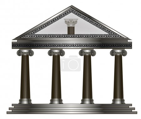 temple romain, grec. illustration vectorielle EPS10