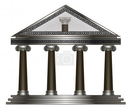 Roman, Greek Temple. eps10 vector illustration