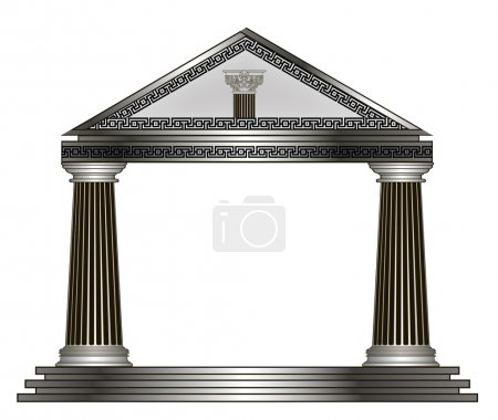 Roman, Greek Temple. eps10 vector illustration