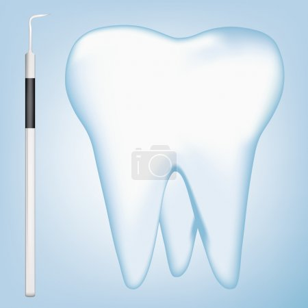 Tooth and dental tools design elements. eps10 vector illustration