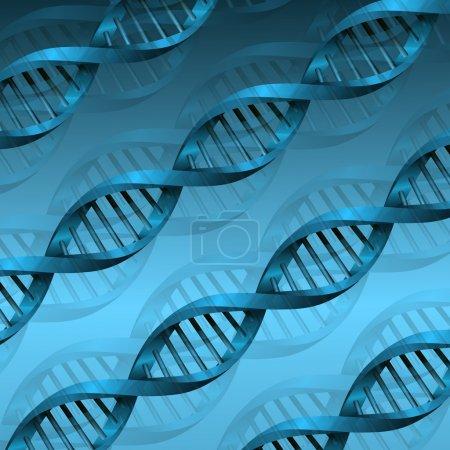 Illustration pour Structure des molécules d'ADN fond. illustration vectorielle eps10 - image libre de droit