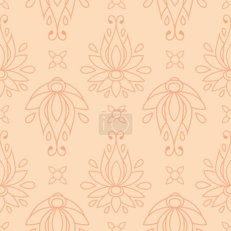 Floral seamless pattern. texture can be used for all type textures, wallpaper, web page background. eps10 format vector illustration