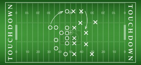 American football field background with artificial turf. soccer field view from above. eps10 format vector illustration