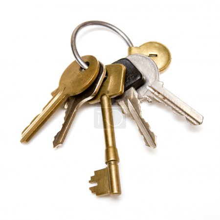 Photo for Keys on a white background - Royalty Free Image