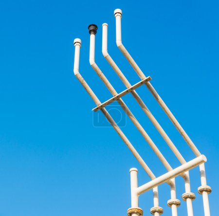 Pipes on sky background