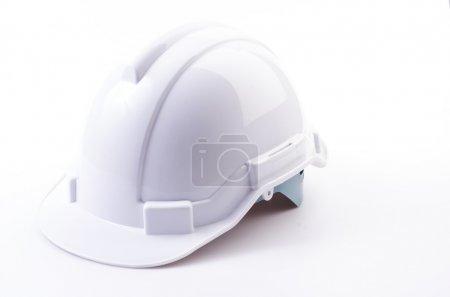 Photo for White helmet on isolated white background - Royalty Free Image