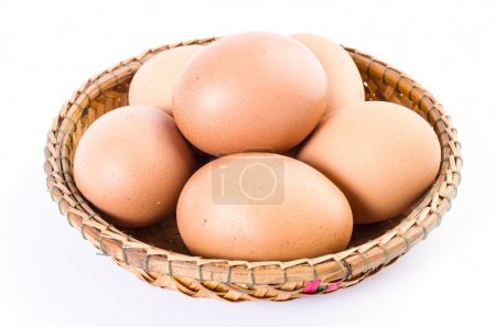 Photo for Eggs isolated on white background - Royalty Free Image