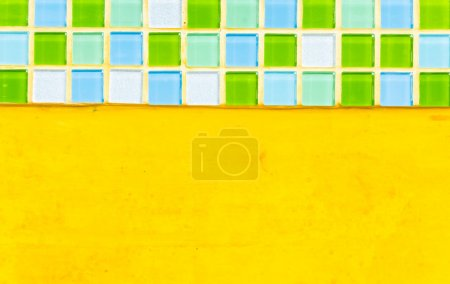 Photo for Old yellow wall texture background - Royalty Free Image