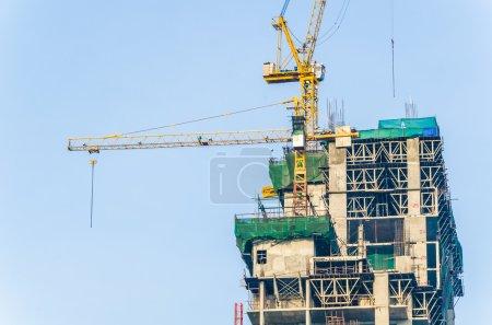 crane building construction site