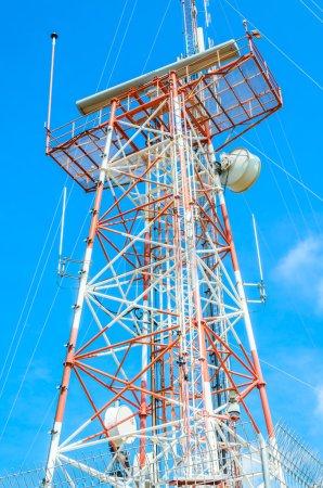Antenna on sky background