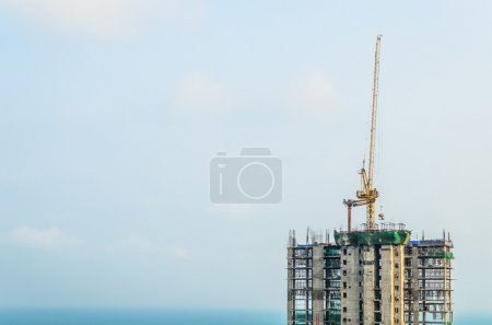 Construction crane building