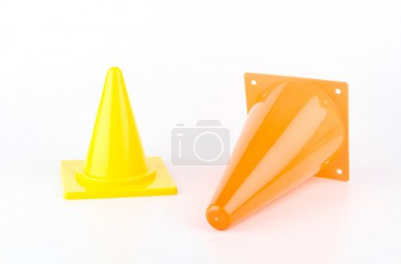 Traffic cones isolated