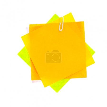 Paper note isolated white background