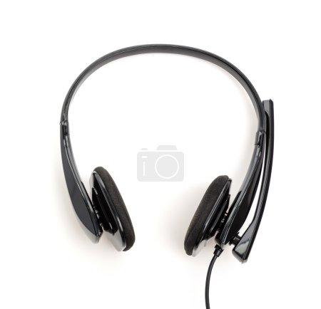 Headphone isolated white background