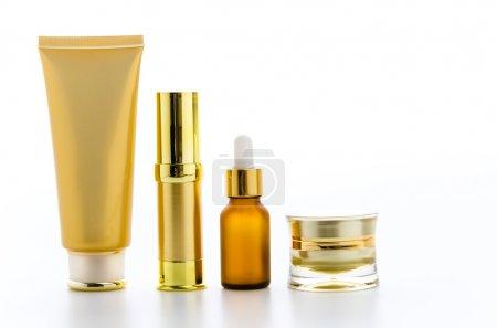 Photo for Cosmetics bottles isolated on white - Royalty Free Image