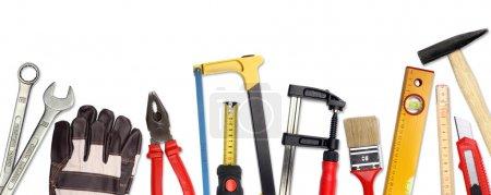Photo pour Un ensemble de beaucoup de différents outils et matériaux de travail - image libre de droit