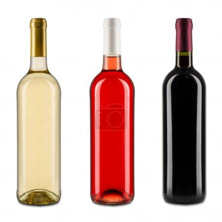 Photo pour Ensemble de bouteilles de vin - image libre de droit