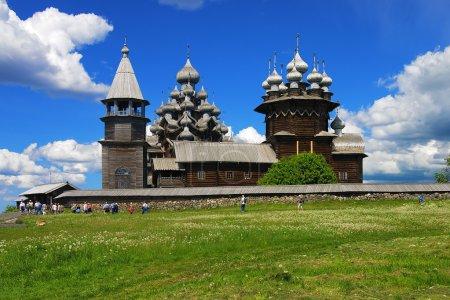 Wooden churches on island Kizhi