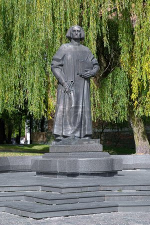 Monument of Yuriy Drohobych in Drohobych, Lviv Oblast, Ukraine