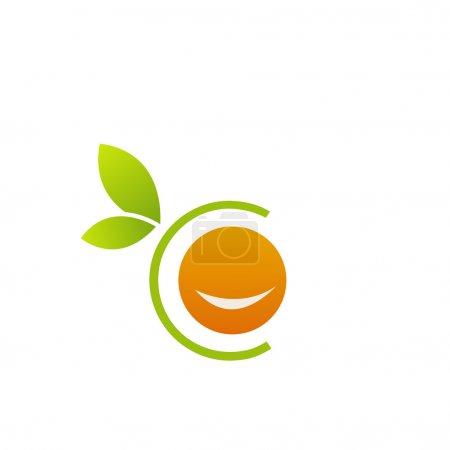 Illustration for Orange Logo - Royalty Free Image