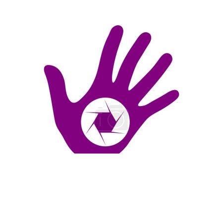Purple photography logo
