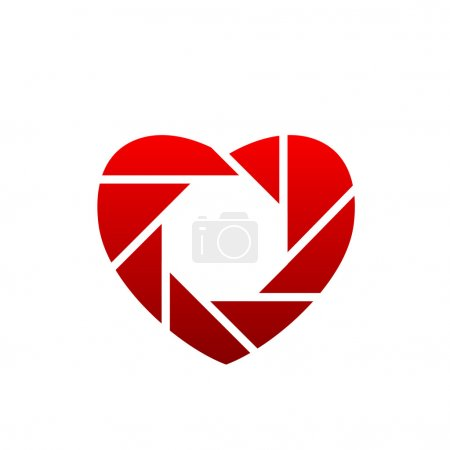 Heart shaped logo for photographers