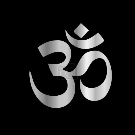 Illustration for Religious Symbol of Hinduism- Pranava - Royalty Free Image