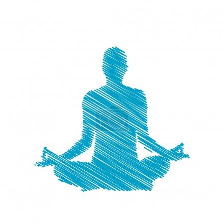 Illustration for Meditation - Royalty Free Image