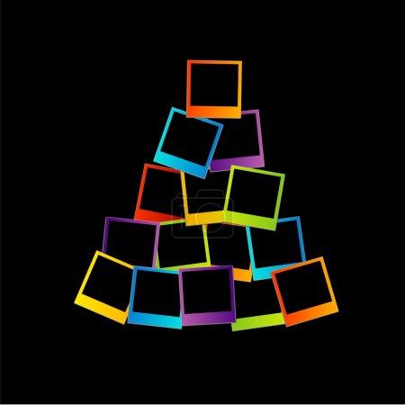 Polaroid Christmas tree