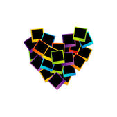 Heart with polaroids
