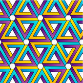 Background with colorful Pen rose triangles