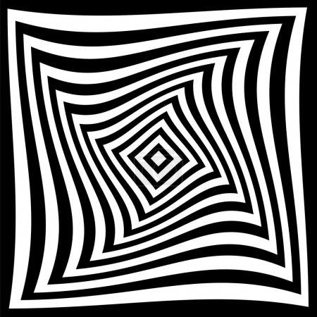 Illustration pour Fond illusion optique - image libre de droit