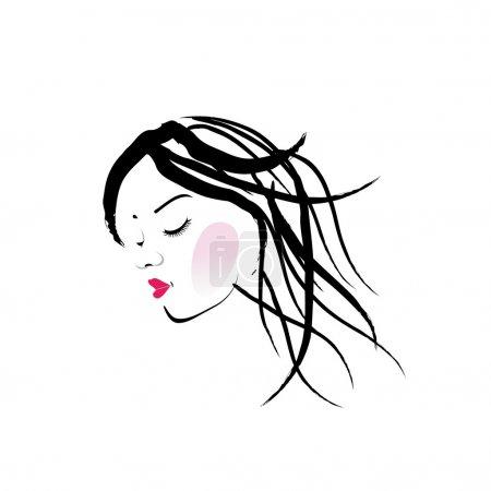 A lady with dreadlocks- dreadlock fashion graphic