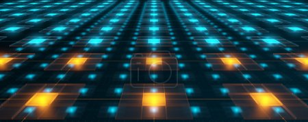 Photo pour Hitech réseaux avec des noyaux de surchauffe - image libre de droit
