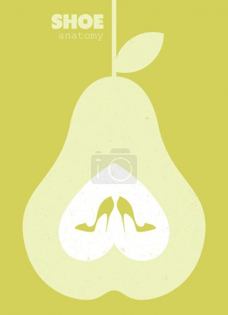 Illustration for Shopping shoes concept poster illustration - Royalty Free Image