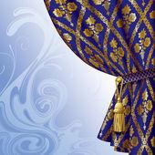 Blue drape