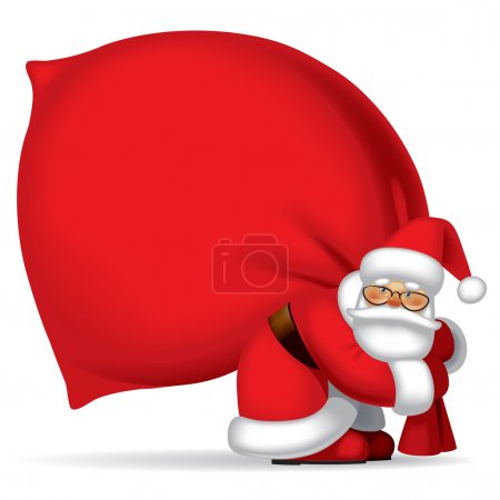 Santa Claus with sack