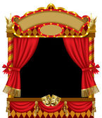 Puppet show booth