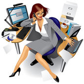 Vector image of a business women in office