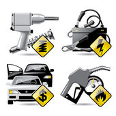 Set of vector automobile service and repair related icons 2