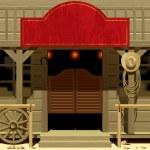 Vector iimage of the door of the Saloon in Wild We...