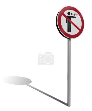 Profanity traffic sign 3d illustration...