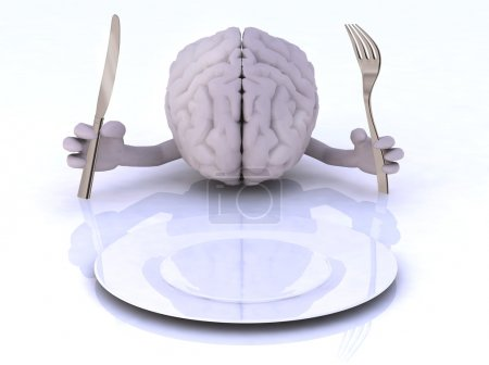 The brain with hands and utensils
