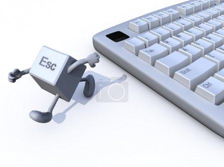 Escapar de la tecla huir de un teclado